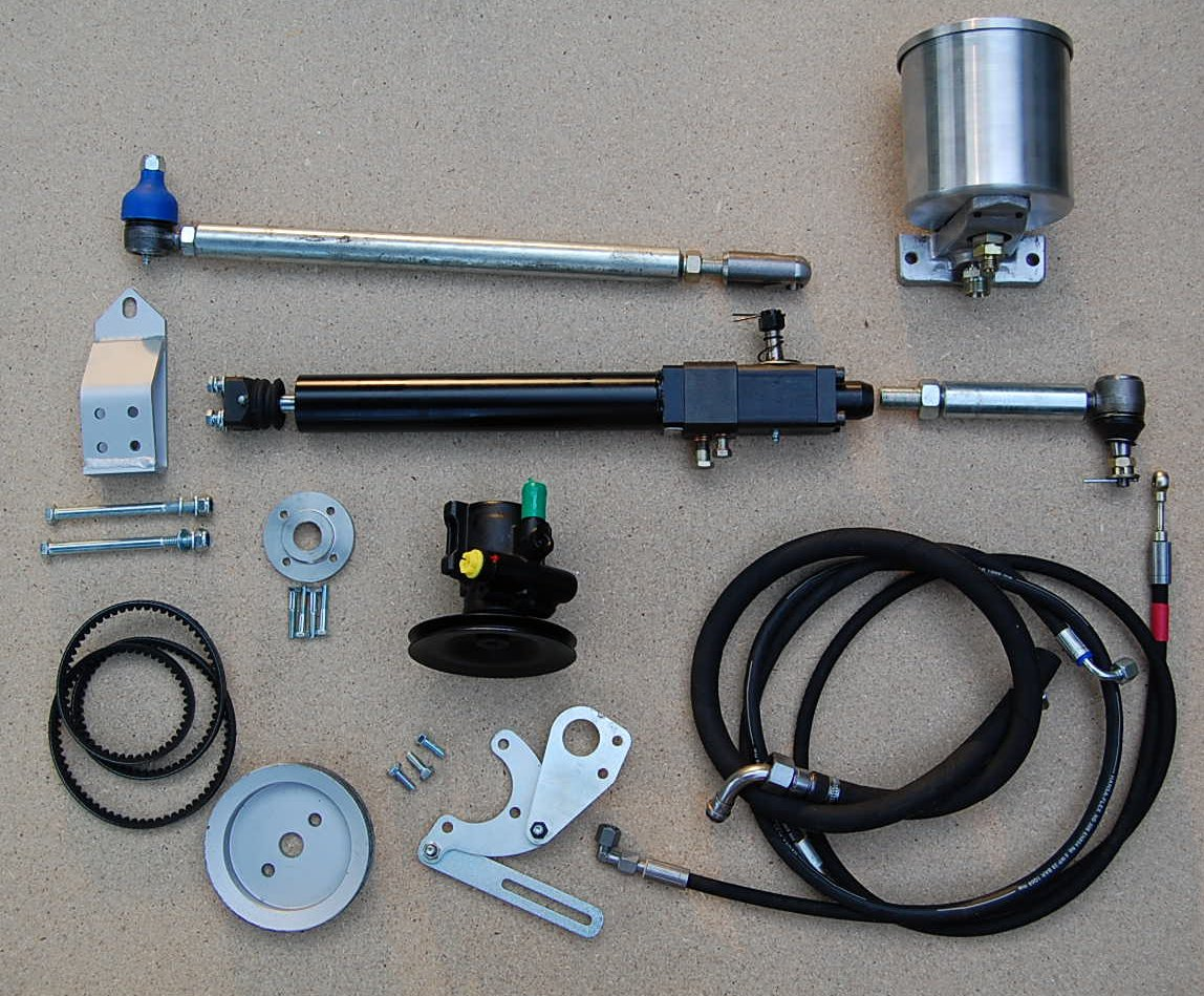 Tdz Power Steering For Series Land Rovers Rover Iii Wiring The Complete Kit